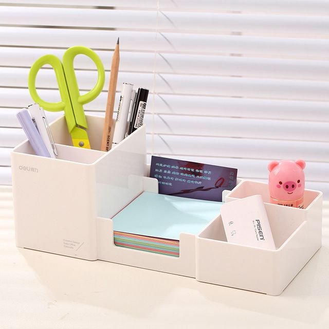 Multifunctional Office Organizer Set Plastic Pen Holder Korea Student Desk On Aliexpress Desk Organizer Set Desk Organization Desk Paper Organizer