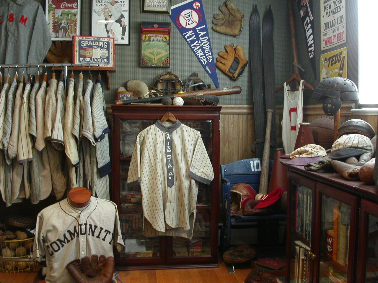 sports office decor. Vintage Sports Collector - Memorabilia Room Office Decor