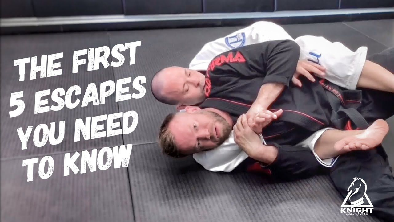 First five escapes you need to know jiujitsu basics