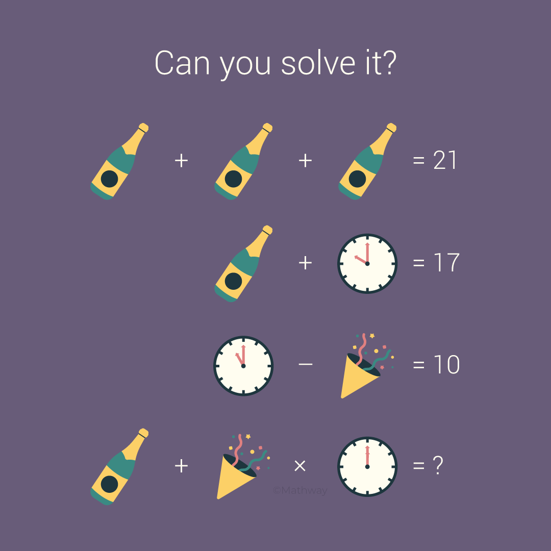 Can You Figure Out How To Solve This Newyearseve Puzzle