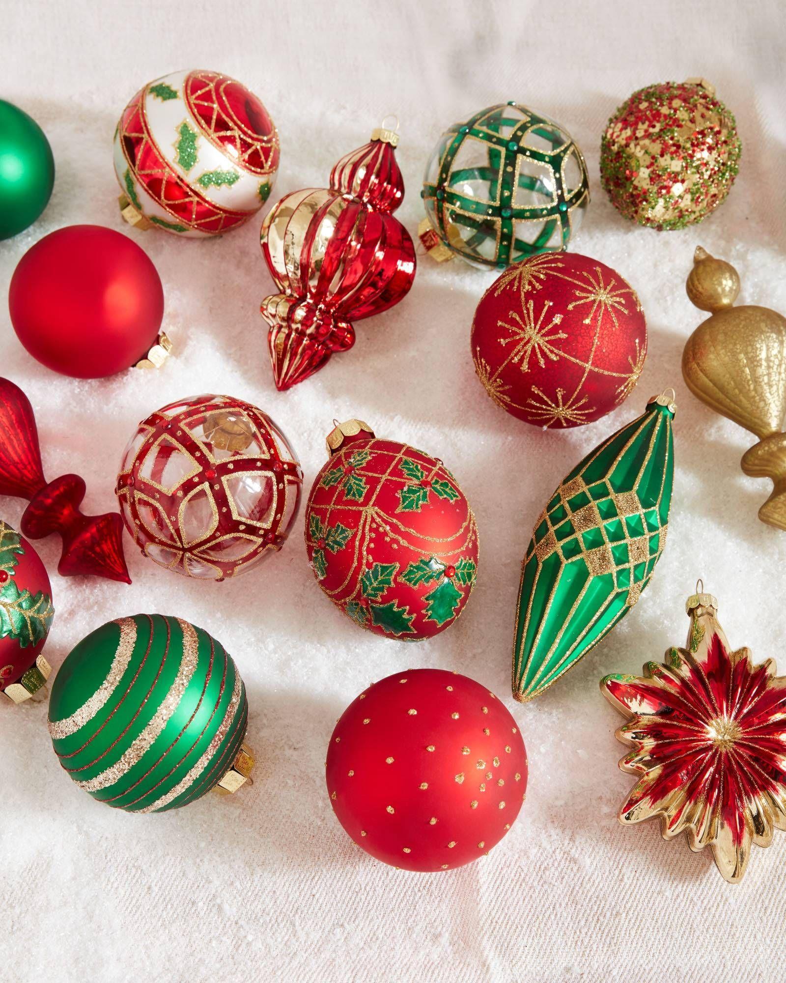 Christmas Cheer Ornament Set Balsam Hill Ornament Set Christmas Decorations Christmas Ornaments