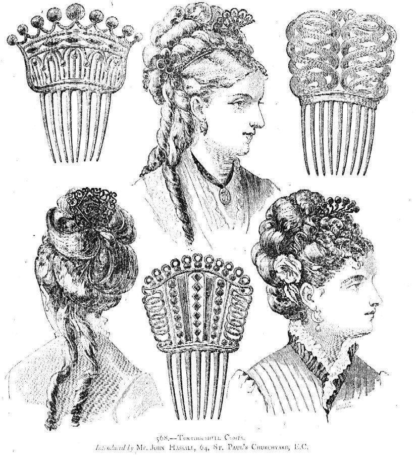 Vintage hair comb Victorian Spanish comb faux by ElrondsEmporium
