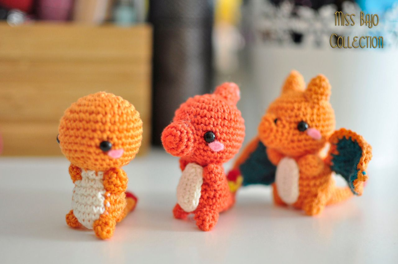 gaming pikachu pokemon cute crafts crochet charmander Bulbasaur ...