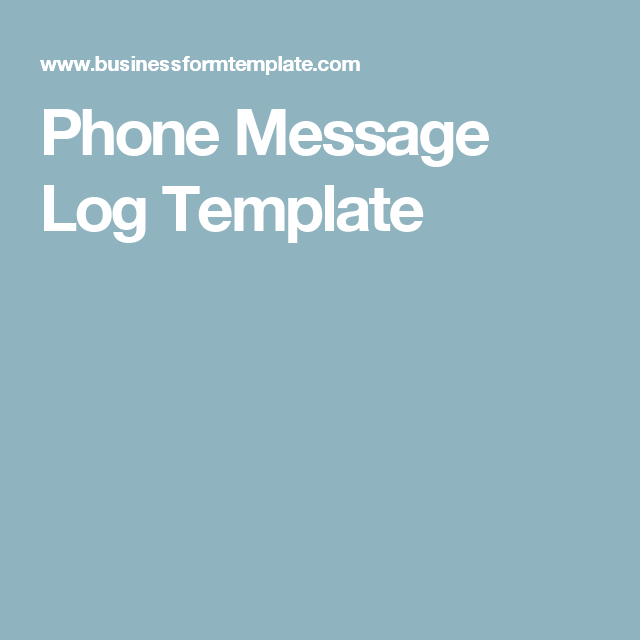 Phone Message Log Template  Business    Phone Messages