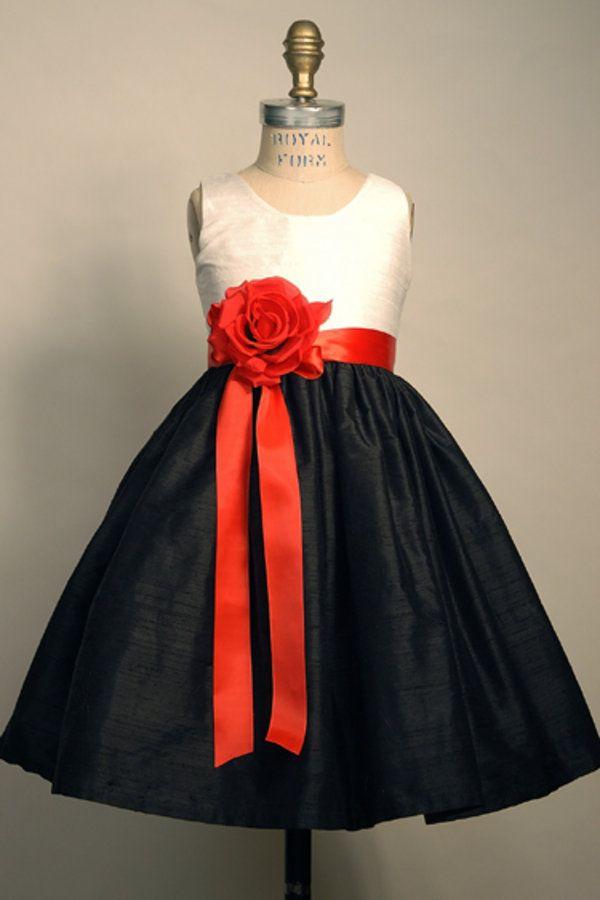 Flower Girl Dress Portrait Silk Dupioni Custom Size/Colors ...