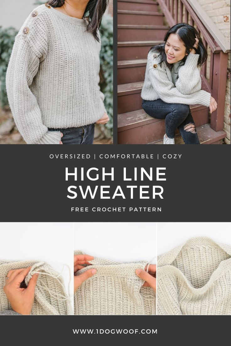Easy Oversized Crochet Sweater - Free Pattern