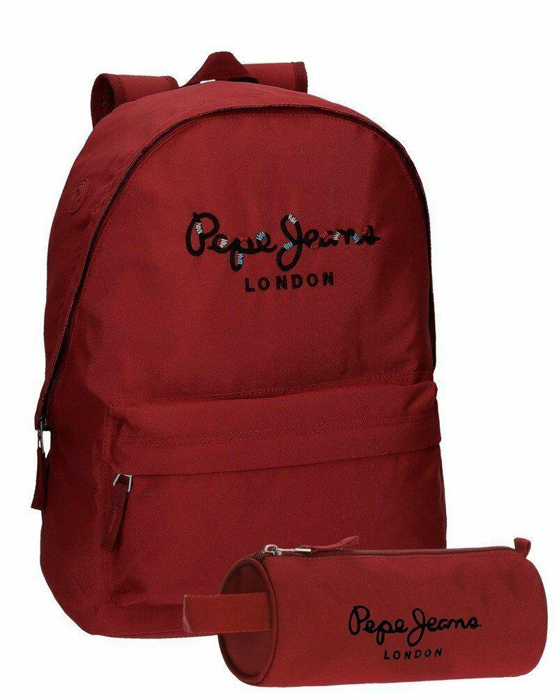 captura especial para zapato correr zapatos Pepe Jeans Harlow Mochila Escolar, 42 cm, 22.79 litros, Rojo ...