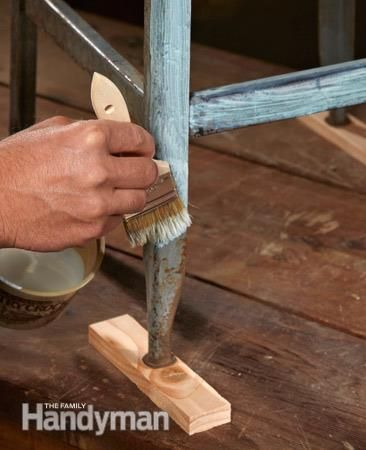 how to remove rust from metal rust ideas remove rust from metal metal patio furniture how. Black Bedroom Furniture Sets. Home Design Ideas