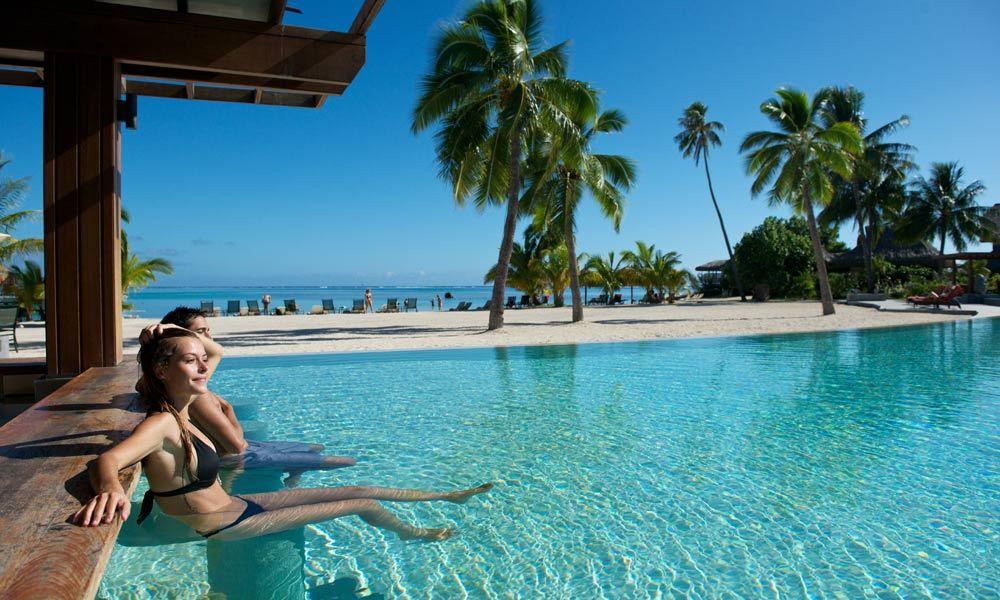 Intercontinental Moorea Resort And Spa Motu One Swim Up Bar