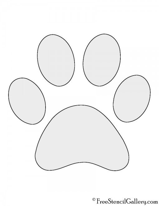 Dog Paw Print Stencil Halloween Pumpkin Carving Stencils