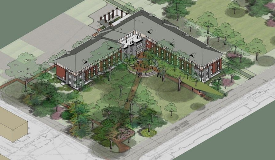 Fleming Hall Is The Residence Hall Currently Under Construction The Residence Hall Will Be Leed Certified Like East Residence Hall Oxford College East Village