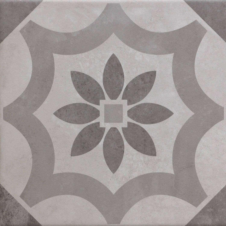 Fliesen Mit Muster Bodenfliesen Grau PatchworkLook Günstig - Muster fliesen kaufen