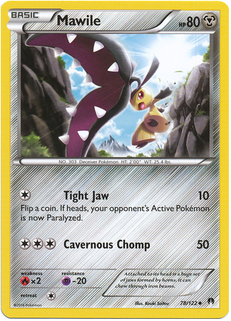 Mawile 78/122 Pokemon TCG: XY BREAKpoint Pokemon Card #pokemon #pokemontcg #