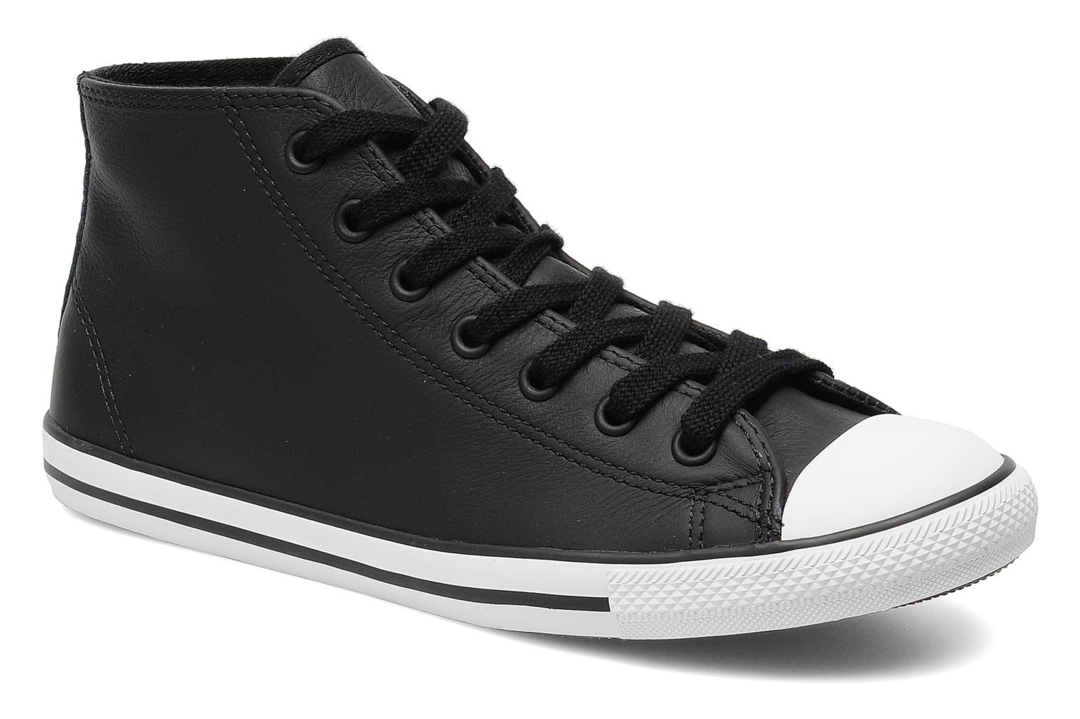 All Star Dainty Leather Mid W Converse (Noir) : livraison ...