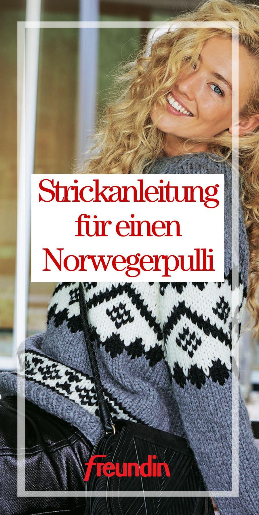 Photo of Strickanleitung für einen Norwegerpulli | freundin.de