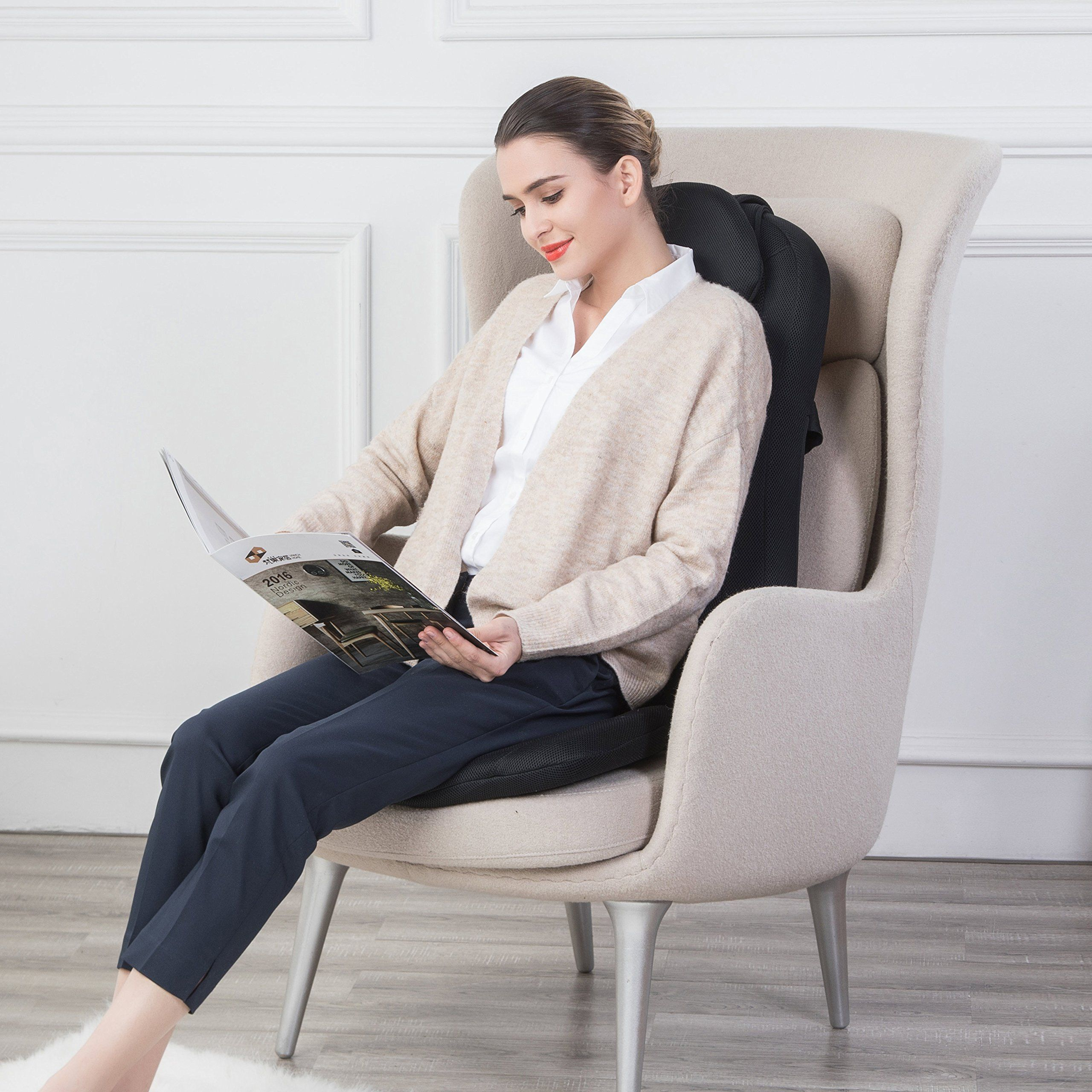 Snailax Shiatsu Massage Cushion with Heat Massage Chair