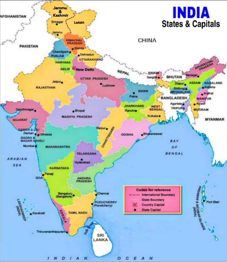 indian states and capitals map 2020 States And Capitals Of India Uts Of India Chief Minister indian states and capitals map 2020