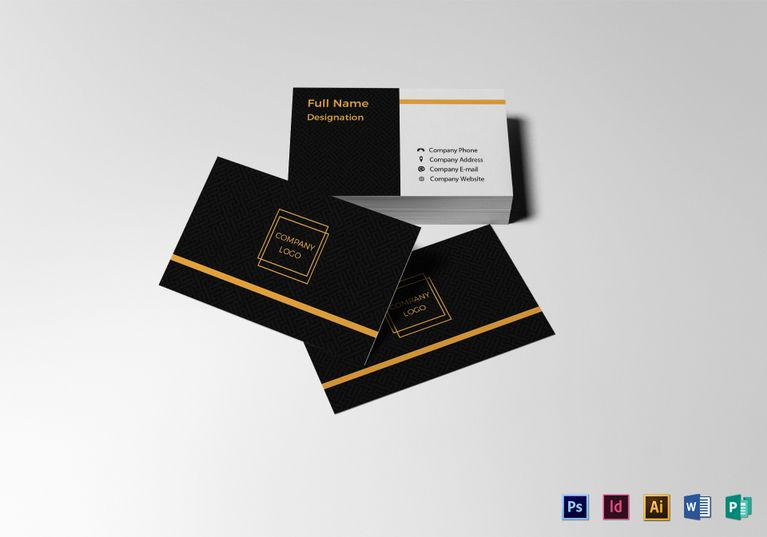 Blank Business Card Template Formats Included  Illustrator  InDesign     Blank Business Card Template Formats Included  Illustrator  InDesign  MS  Word  Photoshop