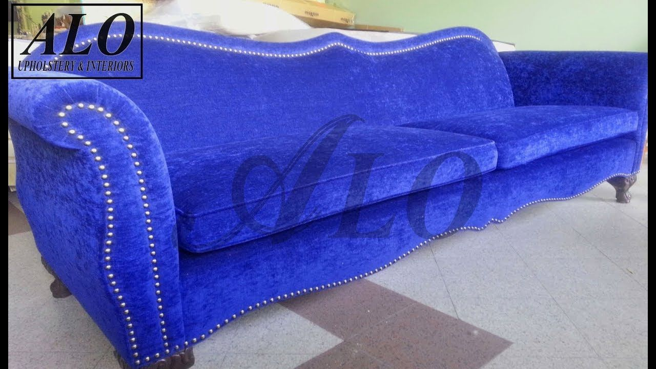 How To Upholster A New Sofa Frame Alo Upholstery Youtube