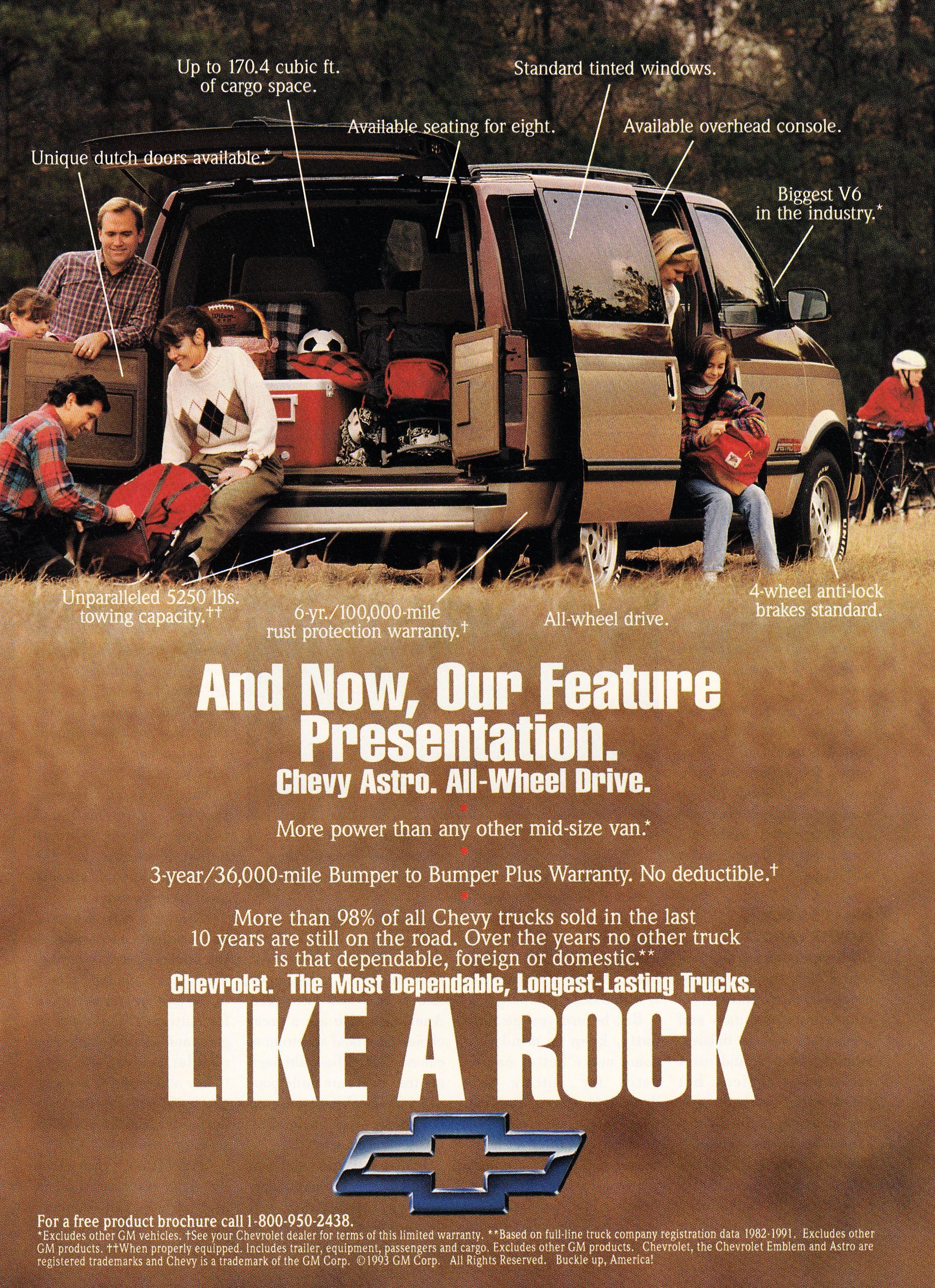 1993 Chevy Astro Chevy Gmc Vans Oldsmobile