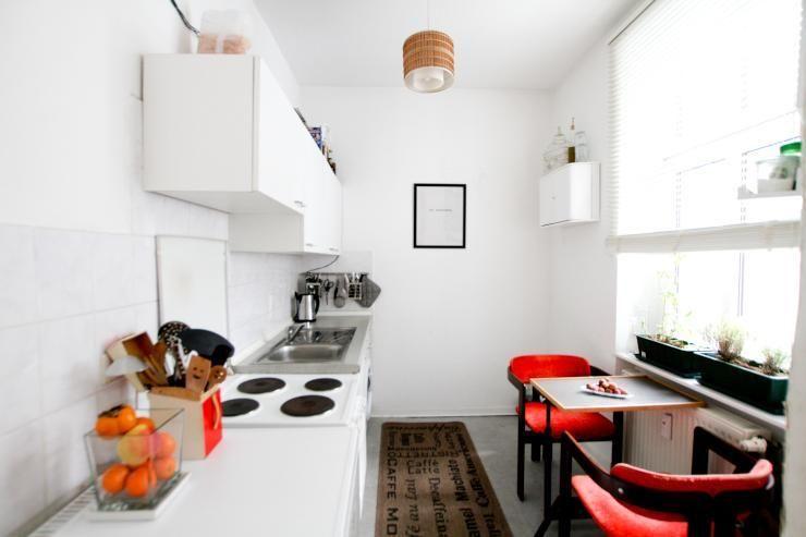 Idee für eine helle und moderne Kücheneinrichtung weiße Möbel - ideen fur moderne einrichtung