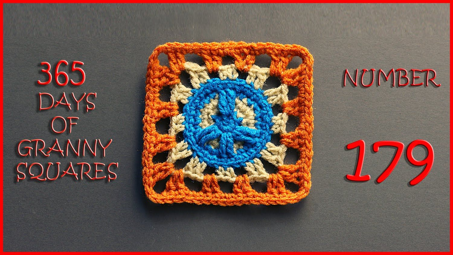 365 Days of Granny Squares Number 179 | Crochet granny squares ...