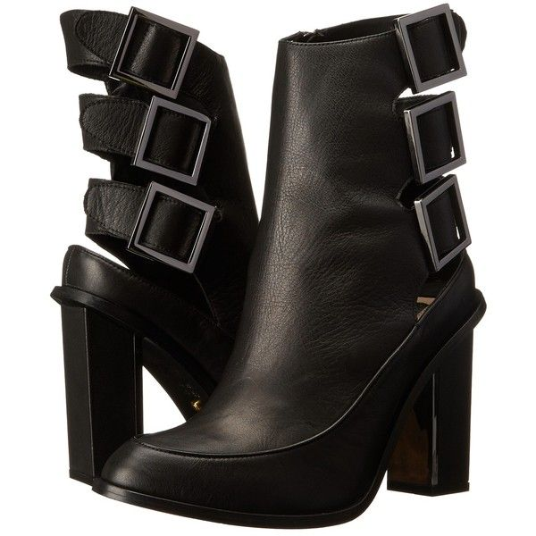 Kat Maconie Petra (Black) Women's Zip Boots ($120) ❤ liked on Polyvore