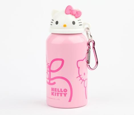 Hello Kitty Aluminum Bottle: Pink Apple