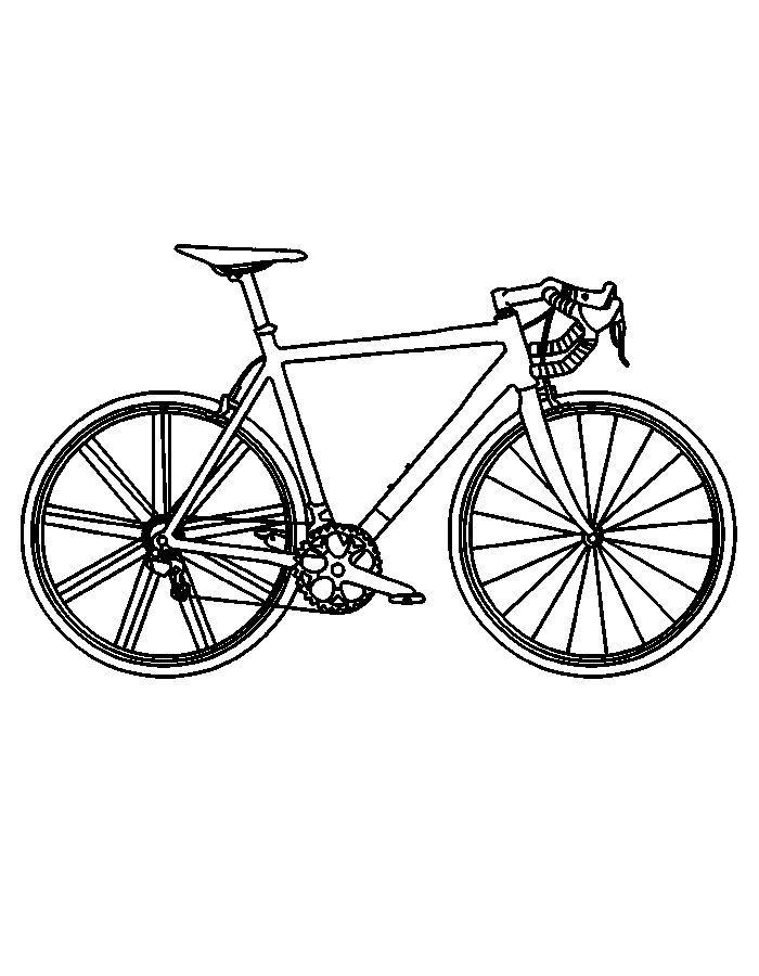 Kleurplaat Mountainbike Racefiets Teken Google Zoeken Fiets Tekening