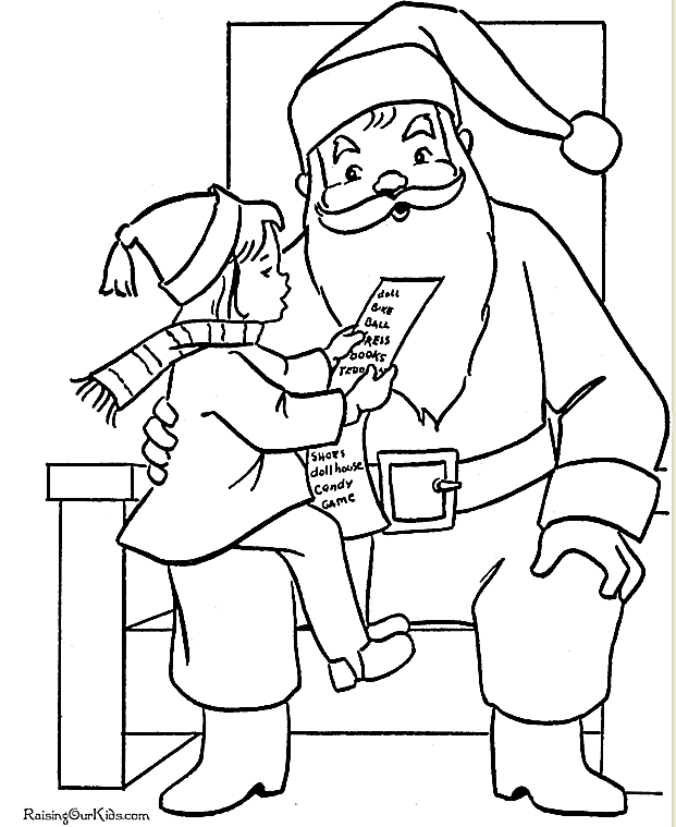 print free santa claus coloring pages this christmas