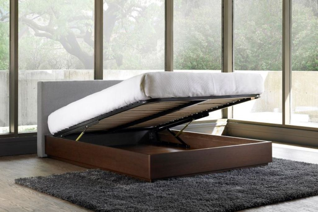 Modern Style Of Hydraulic Lift Storage Bed Bed Frame With
