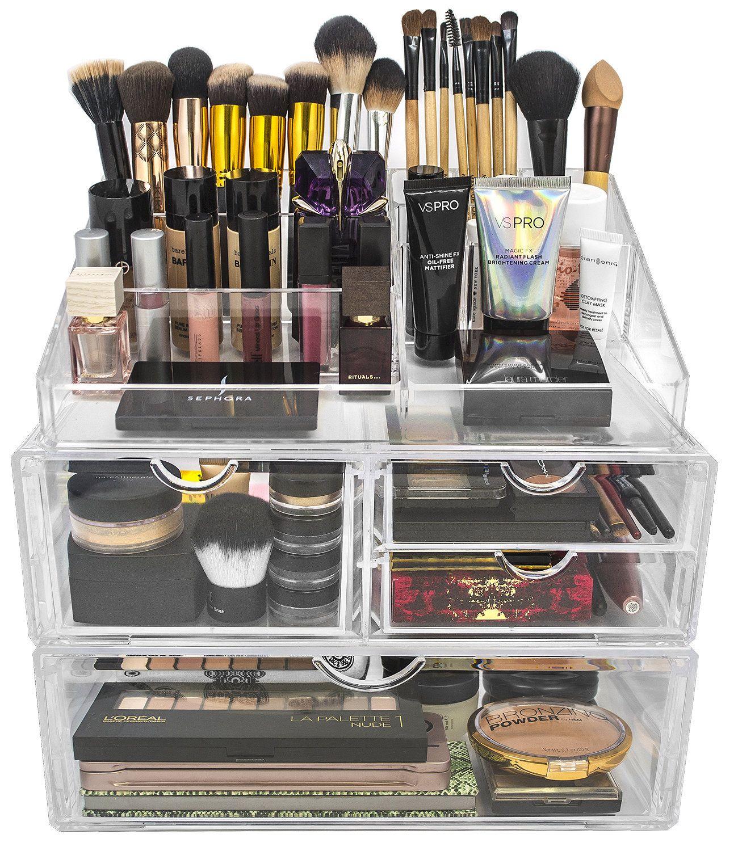 Lincoln 4Drawer Cosmetic Organizer Makeup storage