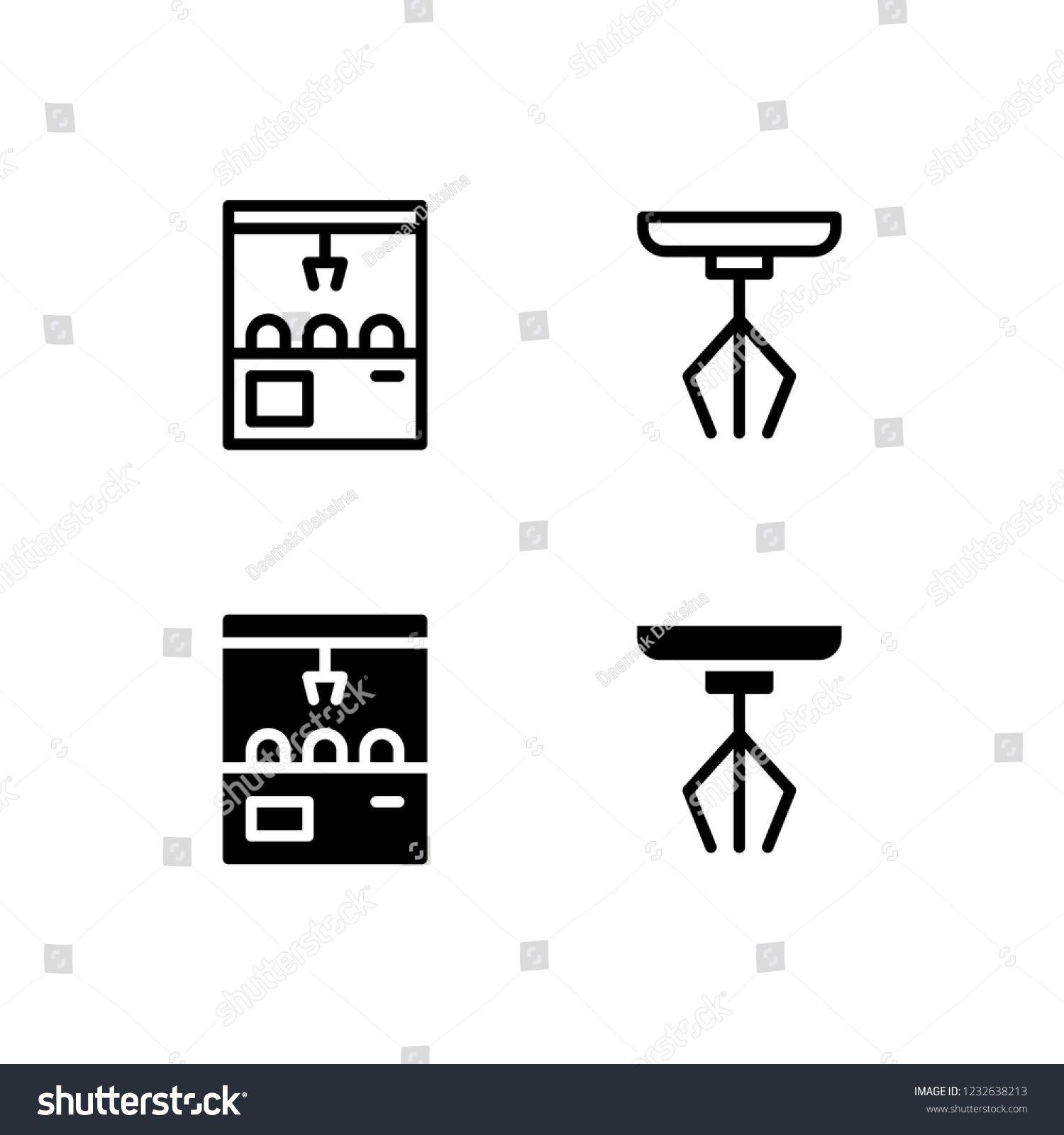 claw machine icon design claw machine grabber robotic amusement icon logo vector symbol set sign design button  [ 1500 x 1600 Pixel ]