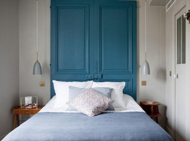 Tete De Lit Avec Anciennes Portes | Chambre | Pinterest | Tete De