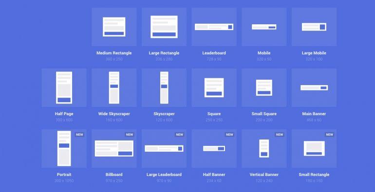 Standard Banner Sizes List Banner Ads Banner Sizes Adwords Banner