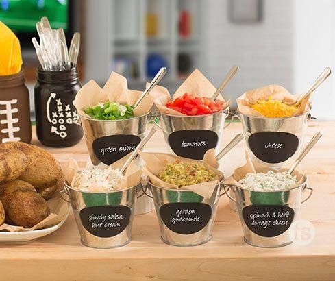 Game Day Baked Potato Bar | Recipe in 2020 | Baked potato ...