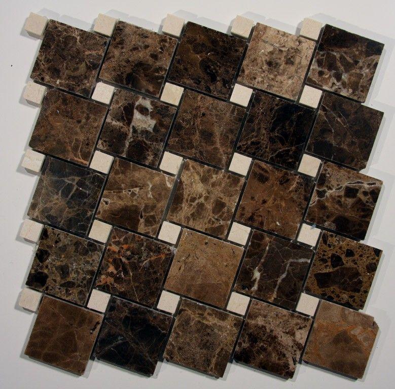 Dark Emperador Offset Pattern Floor Pattern Stone Tile Stone