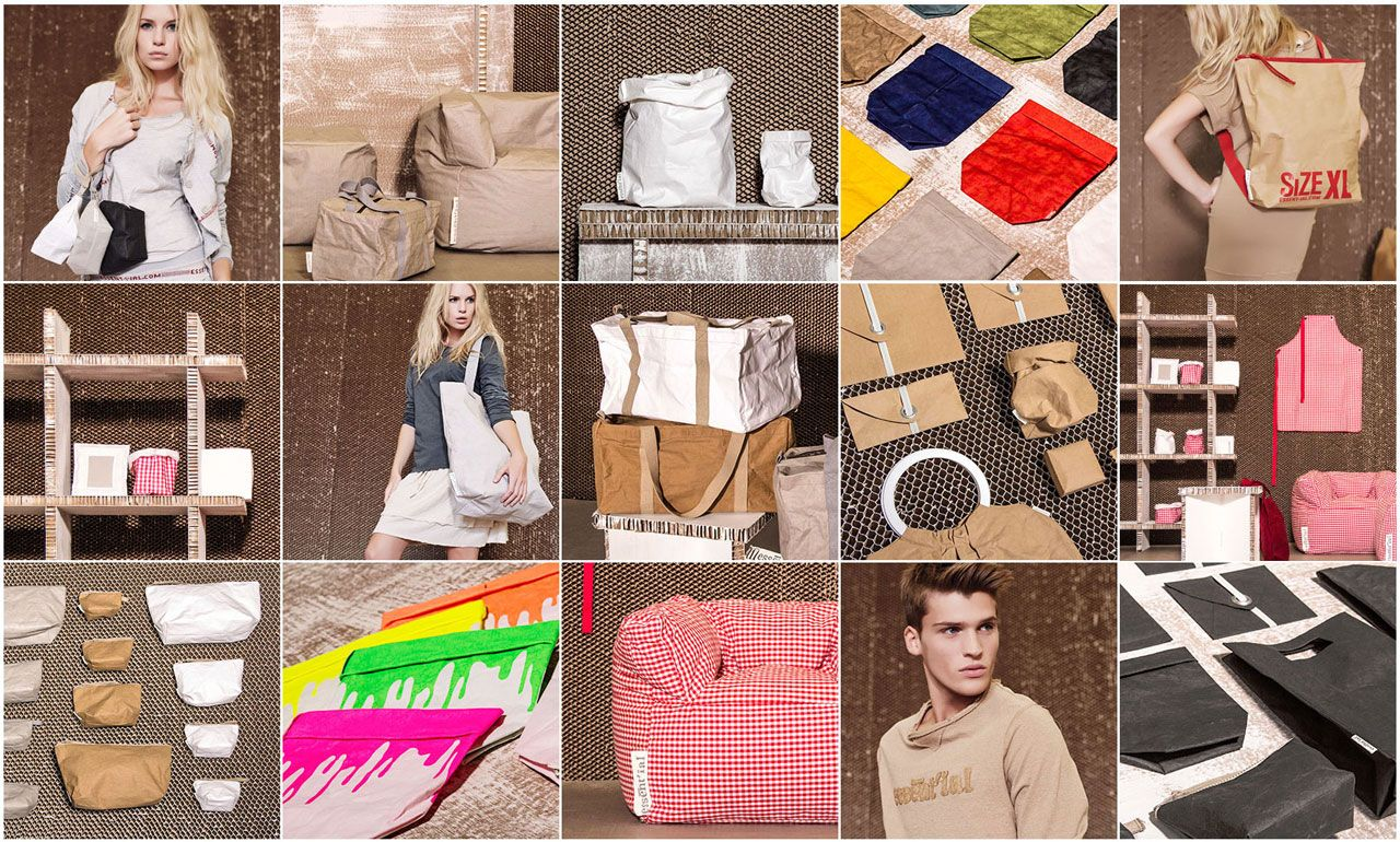 'Washable paper' cellulose material bags and kitchenware from www.dbaproducts.co.uk