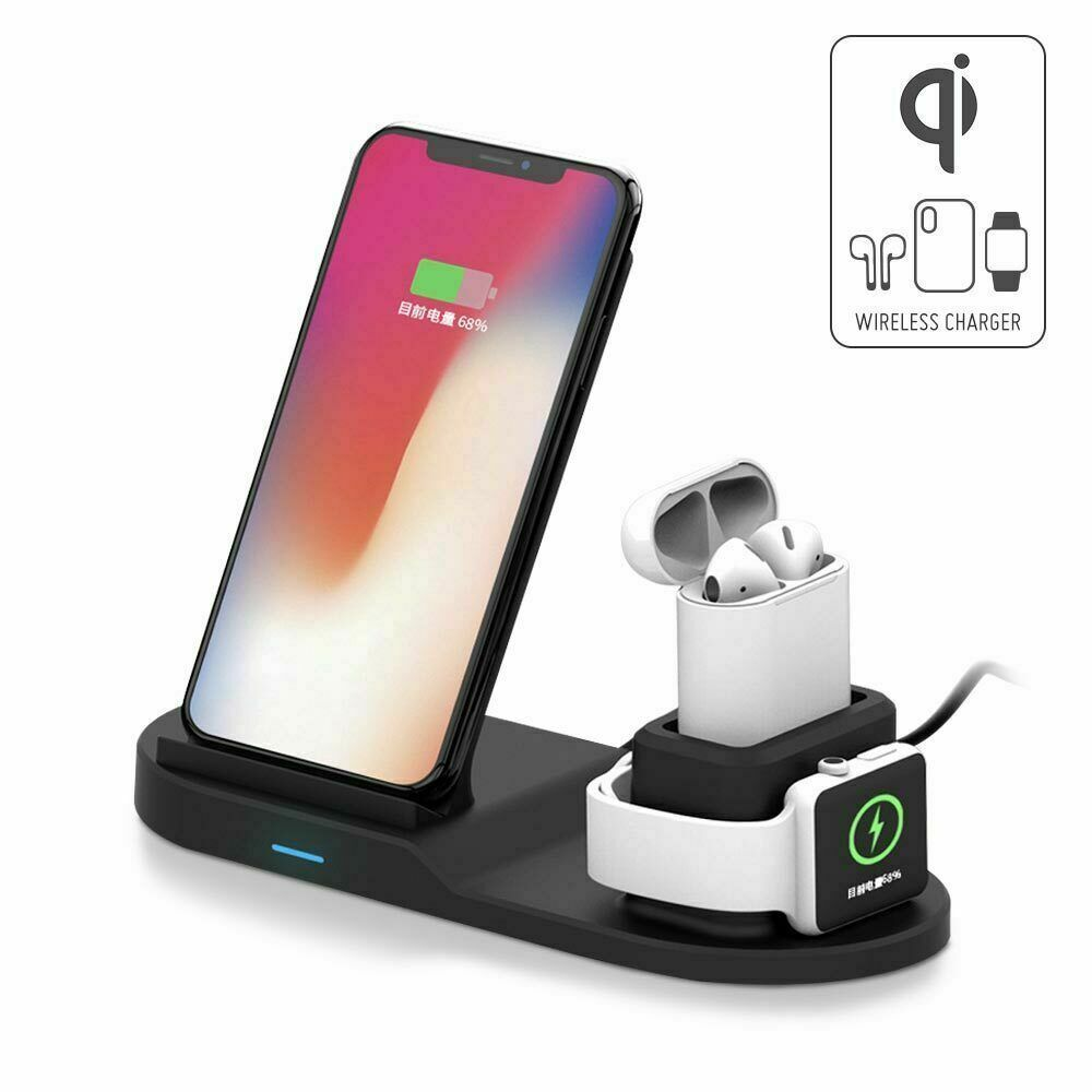 3 in 1 qi wireless charger charging station stand dock for