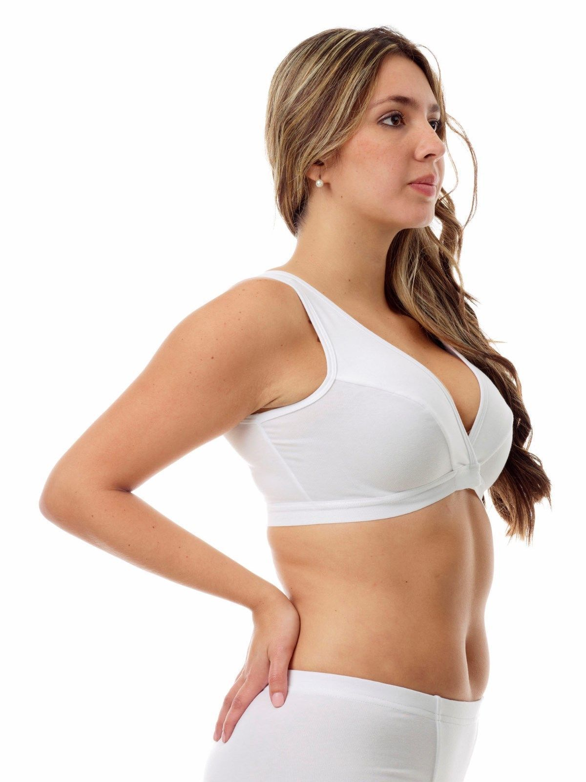 afb0f4d2491 A sports bra made from MagiCotton that prevents bounce during sporting  activity and works as an extreme chest binder.