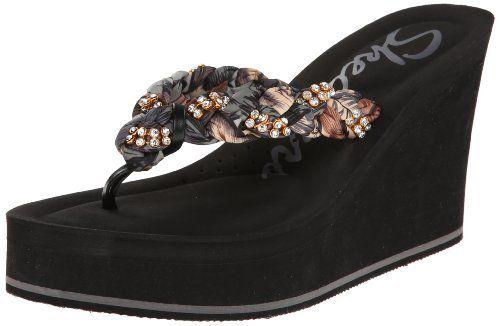 ladies skechers wedge sandals Sale,up