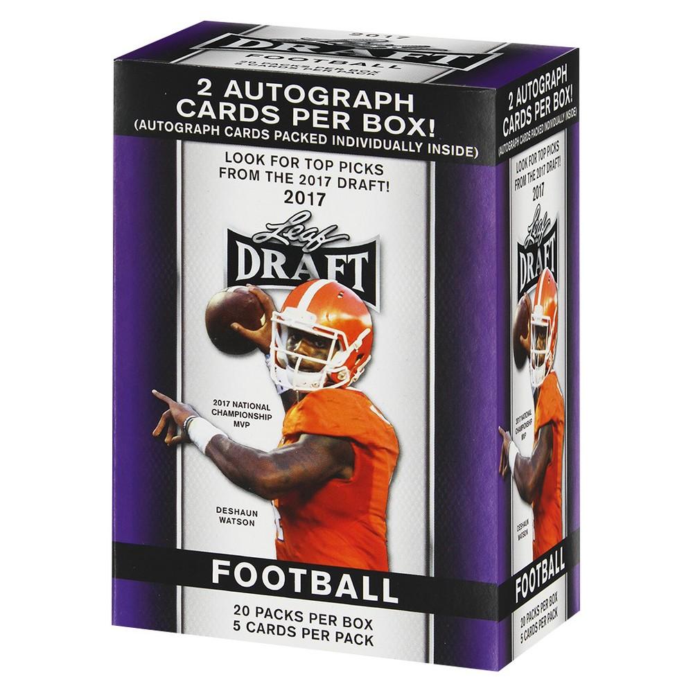 2017 NFL Panini Leaf Draft Trading Cards Full Box