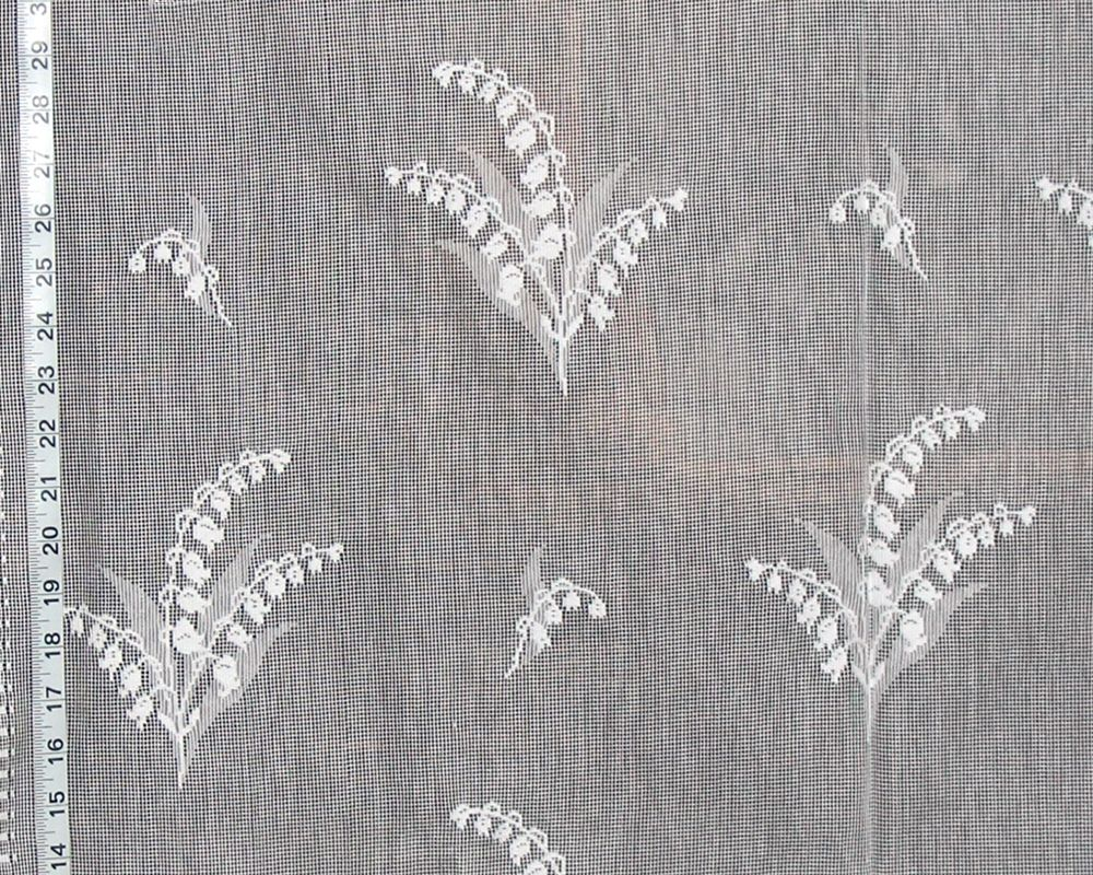 Lily Of The Valley Nottingham Lace Curtain Fabric White Novelty