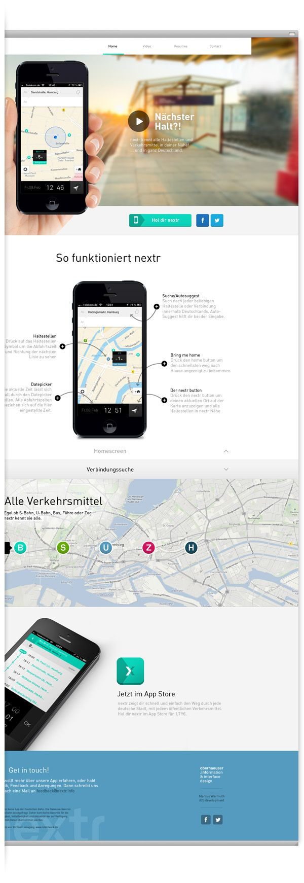 Nextr is an iPhone app that guides you through all public
