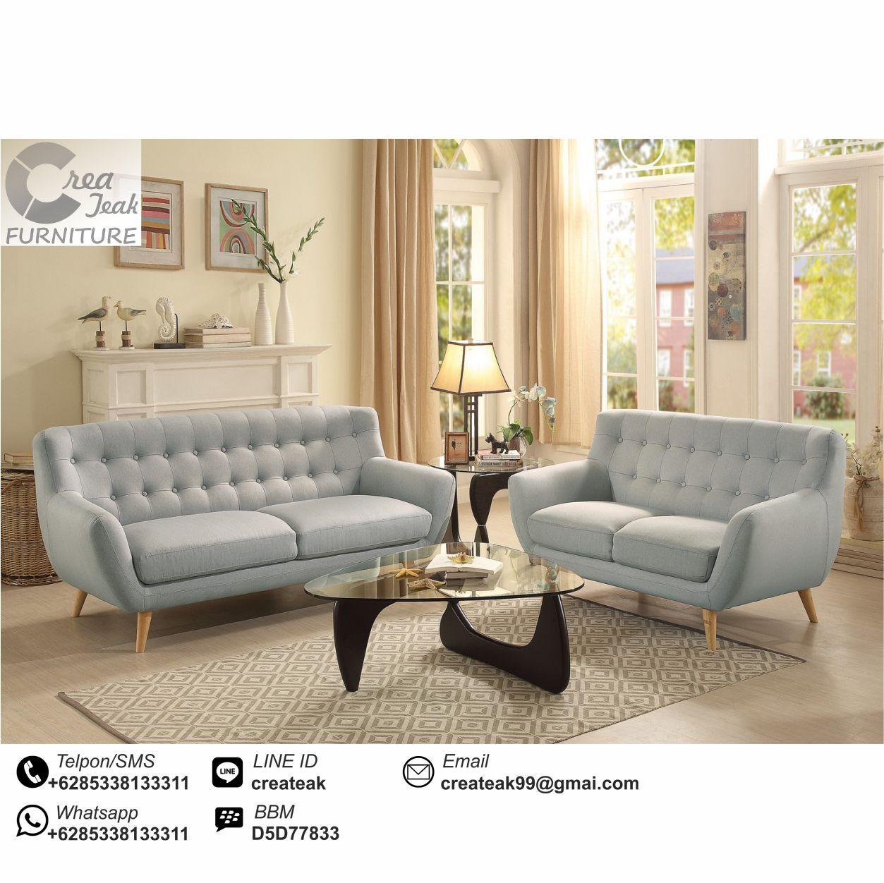 Set Sofa Retro Minimalis Norika Mebel