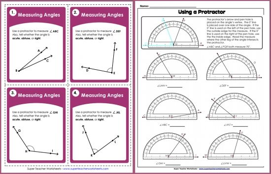 Are you teaching your students how to measure angles? The Super ...