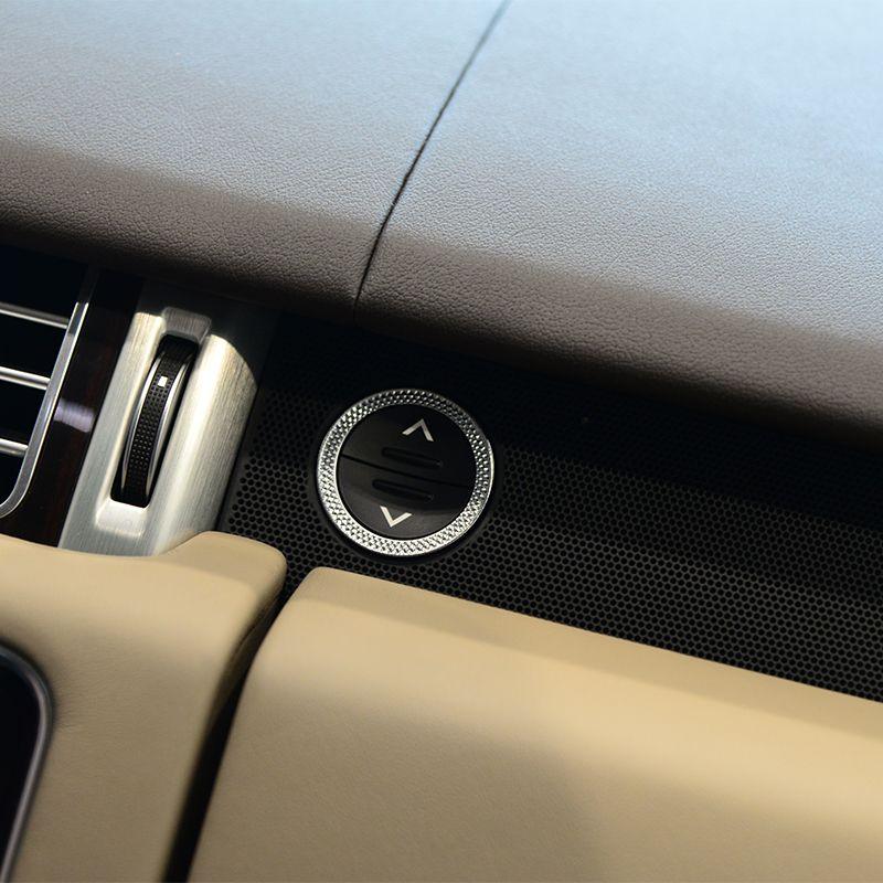 Copilot storage box button ring Trim For Land Rover Range