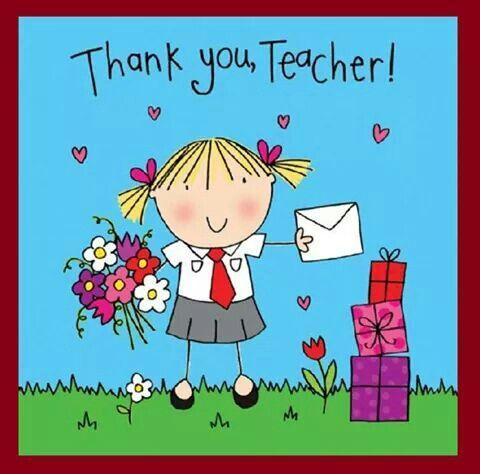 Thank You Teachers Cartoons Cards Printables