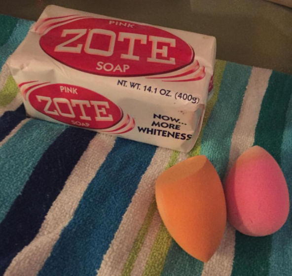 This Zote soap to get your makeup brushes nice and clean