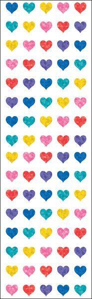 "mrs. grossman's multi micro hearts stickers - 6.5"" x 2"""